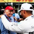 Lewis Hamilton says he still looks back through old messages between himself and Niki Lauda.
