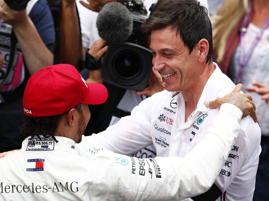 Lewis Hamilton Toto Wolff Mercedes