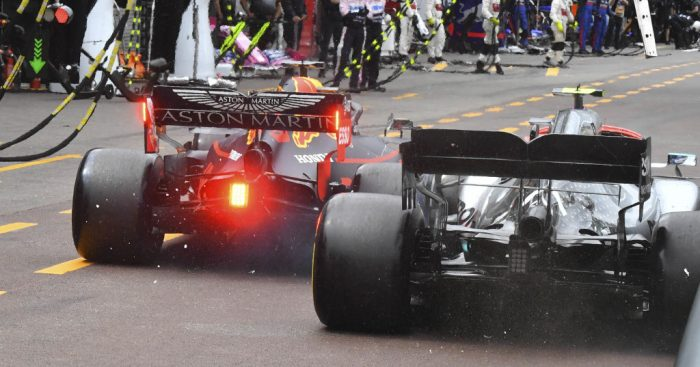 Valtteri-Bottas-and-Max-Verstappen-Monaco-pits-PA