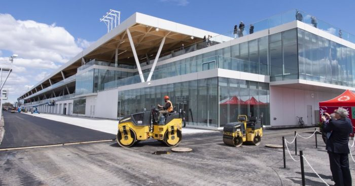 """Almost a miracle"" that new pit buildings have been completed in time for Canadian Grand Prix."