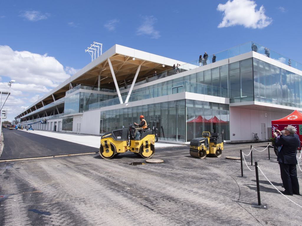 """""""Almost a miracle"""" that new pit buildings have been completed in time for Canadian Grand Prix."""