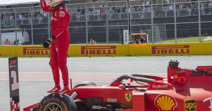 """Sebastian Vettel was """"full of adrenaline"""" after he claimed pole for the Canadian GP - his first since Germany 2018."""