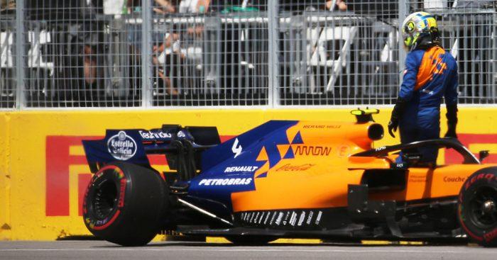 Lando-Norris-broken-McLaren-PA