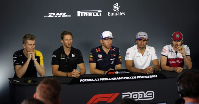 Thursday's French GP press conference