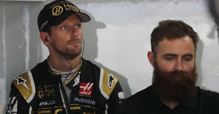 "Romain Grosjean says Daniel Ricciardo and Kimi Raikkonen ""f*****"" his lap in Q1 ahead of the French GP."