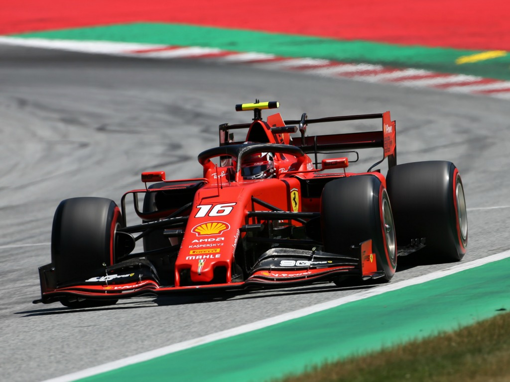Charles Leclerc: On pole in Austria