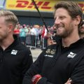 Romain Grosjean doesn't believe he was to blame for his crash with Kevin Magnussen at the British Grand Prix.