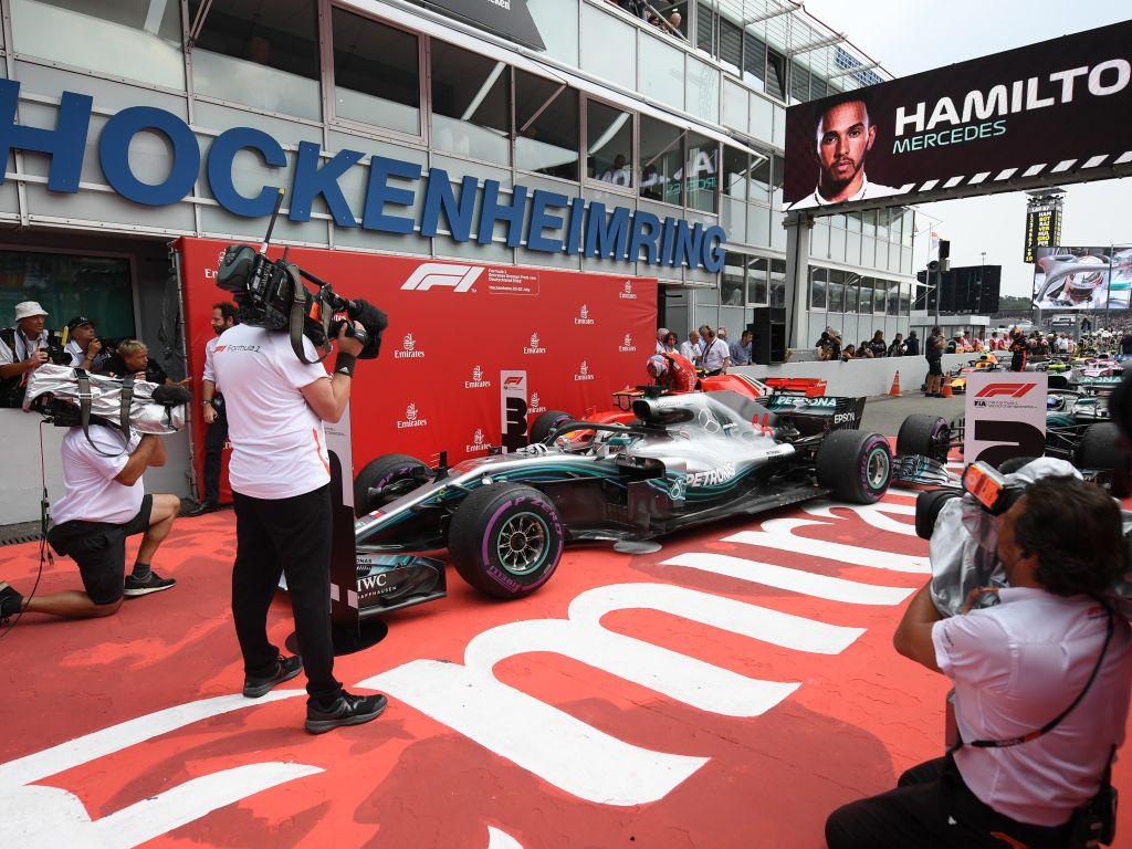Lewis Hamilton after winning 2018 German Grand Prix.