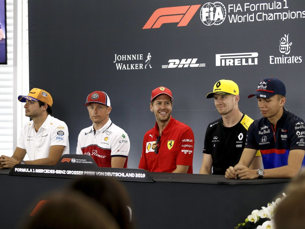 German GP driver press conference.