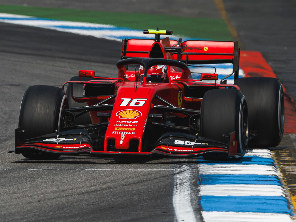 Leclerc remains P1 as track limits come into play