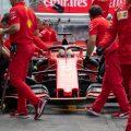 Sebastian Vettel in action