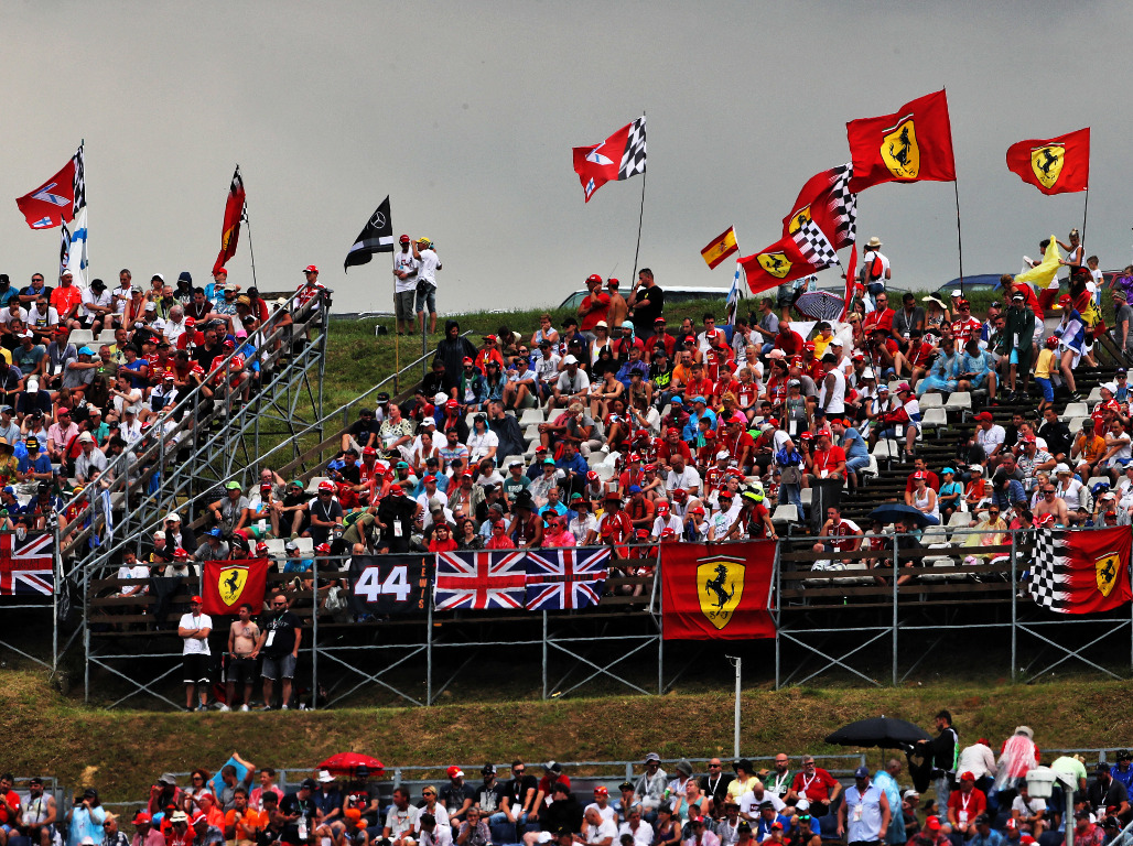 Fans attend the Hungarian GP