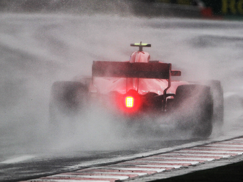 Qualifying in Hungary in the rain