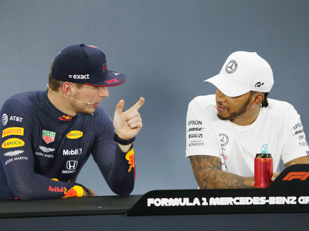 Max-Verstappen-and-Lewis-Hamilton-chatting-PA