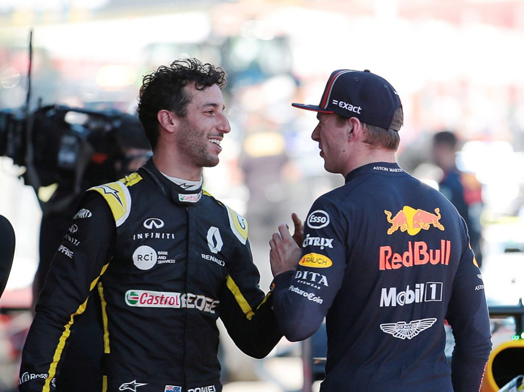 Daniel Ricciardo asked Max Verstappen what his plans were as the Australian GP fell into chaos.