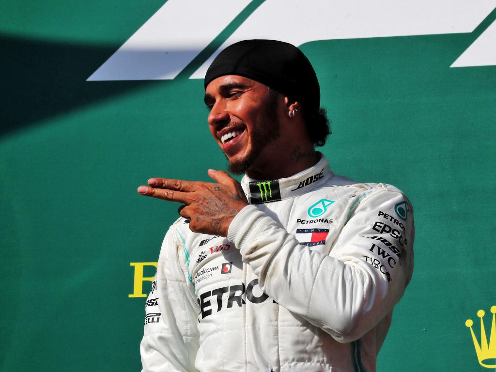 Lewis Hamilton having fun