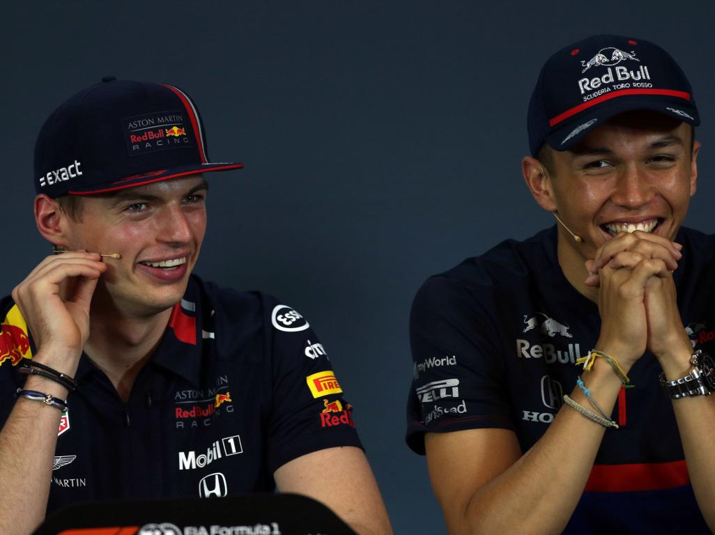 Max-Verstappen-and-Alexander-Albon-pre-break-PA
