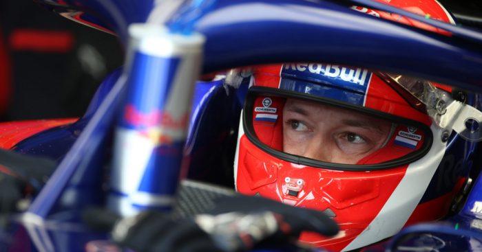 Daniil Kvyat in the cockpit