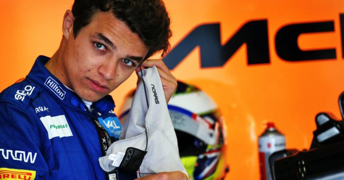 """Lando Norris says that the """"insane"""" scale of McLaren does put more pressure on him."""