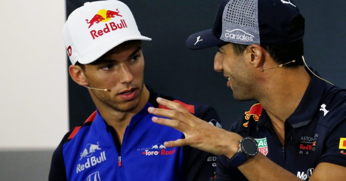 "Daniel Ricciardo believes Red Bull ""had to do something"" with Pierre Gasly."