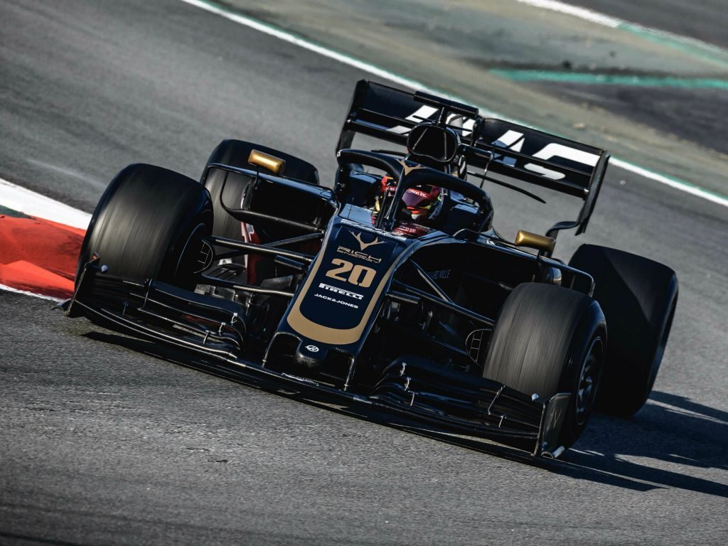 Kevin Magnussen in a Haas