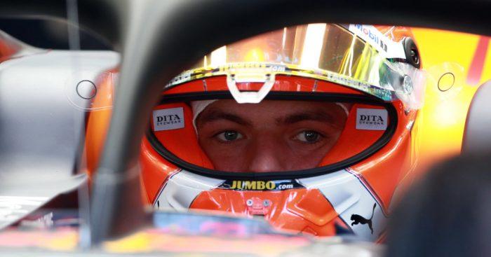 Max Verstappen in the cockpit