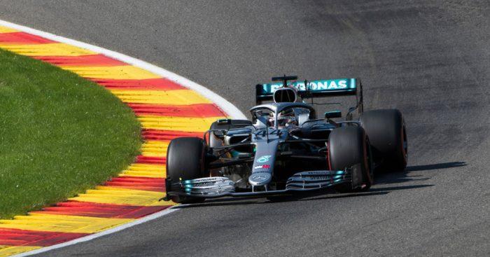 Lewis Hamilton in Mercedes action