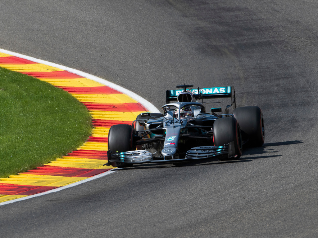 Lewis Hamilton in Mercedes action