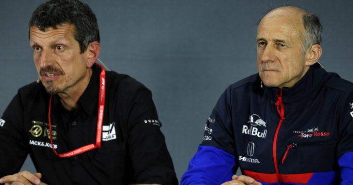 Guenther Steiner and Franz Tost at press conference