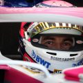 Sergio Perez in his car