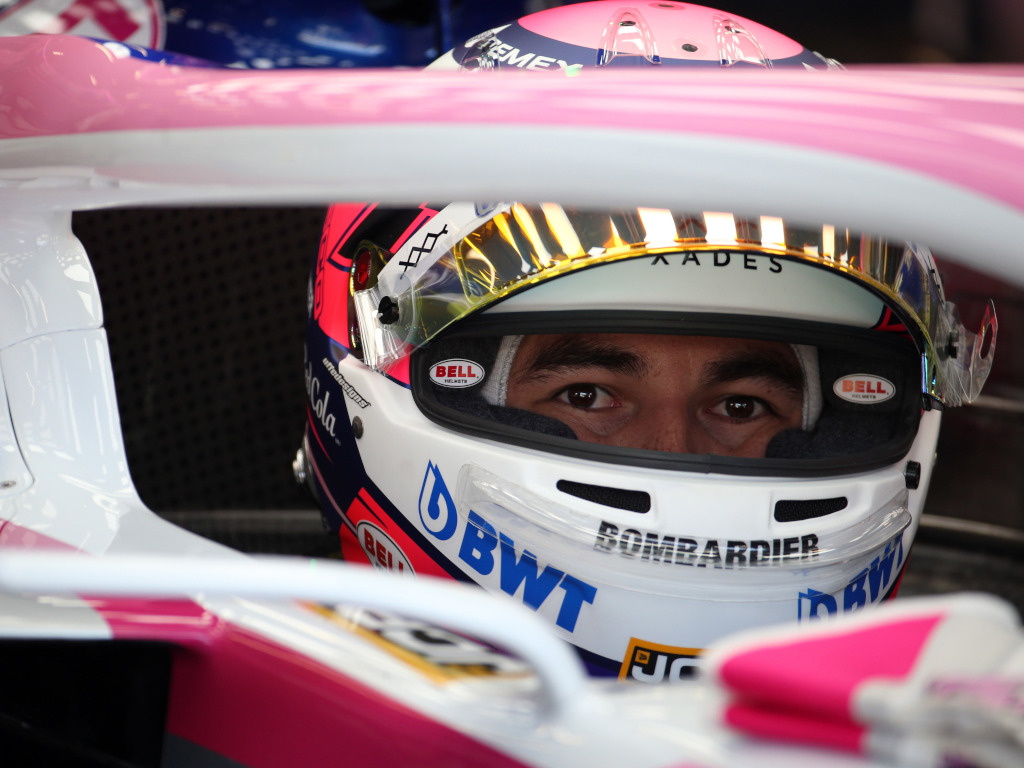 Sergio Perez in his car