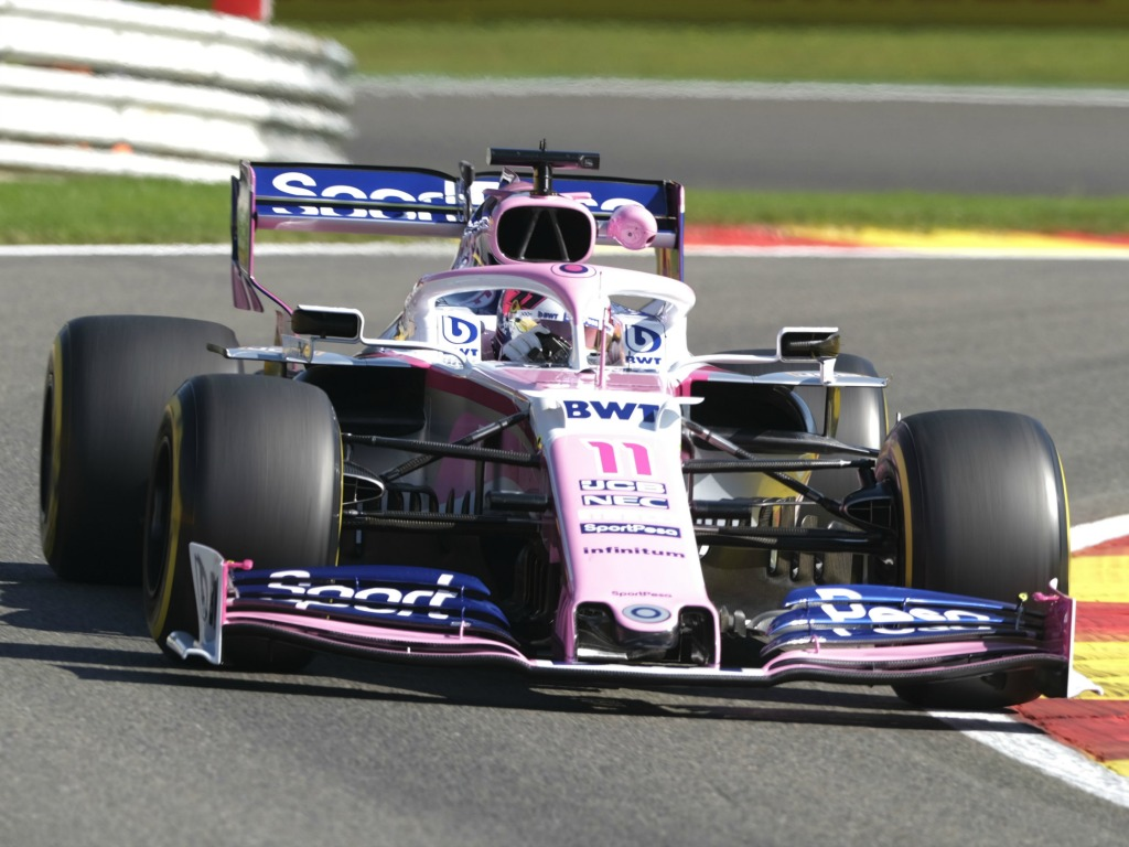 Sergio Perez drives Mercedes-powered Racing Point