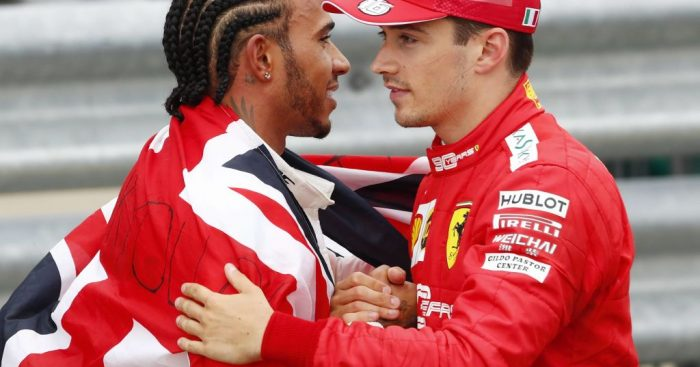 """""""More greatness to come"""" for Charles Leclerc says Lewis Hamilton."""