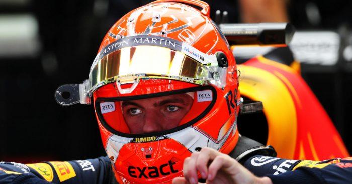 Max Verstappen in his car