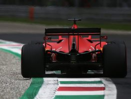 Sebastian Vettel in action at Monza for Ferrari