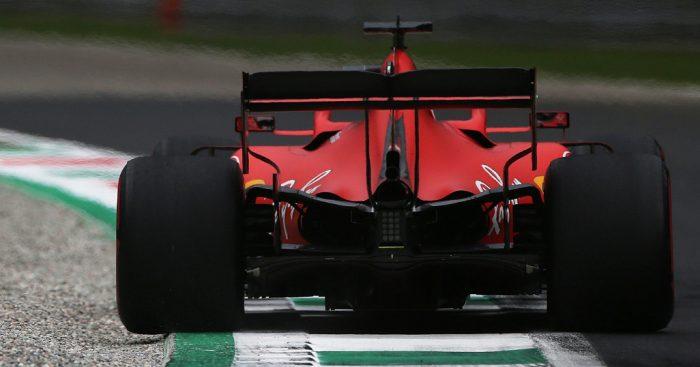 Sebastian Vettel in action at Monza for Ferrari