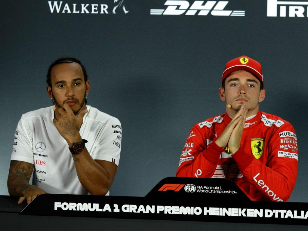 Lewis Hamilton Mercedes Charles Leclerc Ferrari