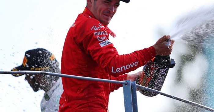 """Charles Leclerc knows his defence against Lewis Hamilton at Monza was """"very on the limit""""."""