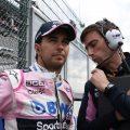 Sergio Perez talking tactics
