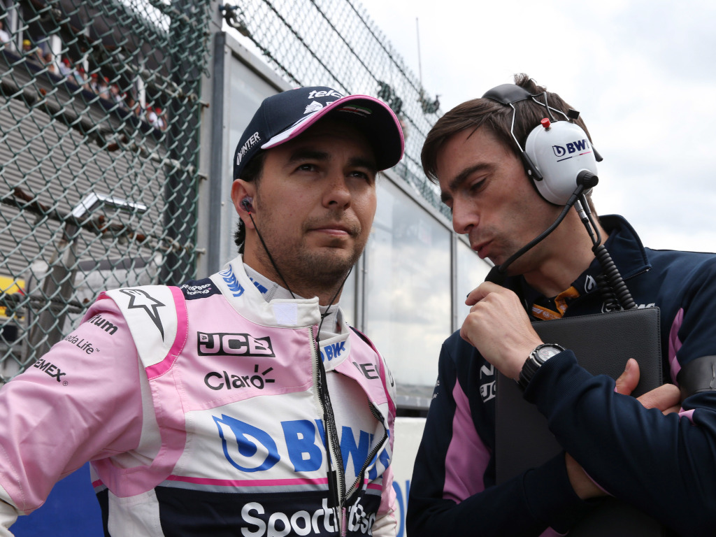 Sergio Perez talking tactics