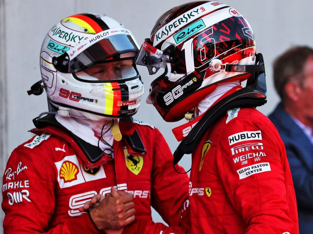 "Ferrari principal Mattia Binotto believes Charles Leclerc was a ""benchmark"" for Sebastian Vettel to improve in 2019."
