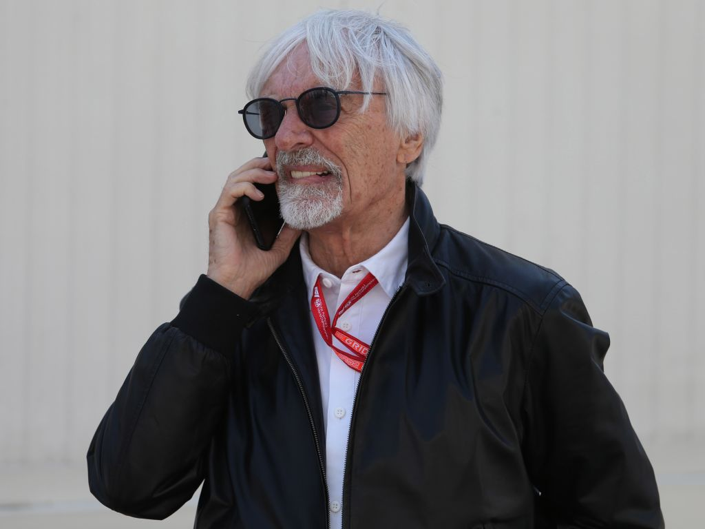 Bernie Ecclestone on the phone pa
