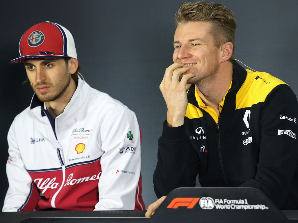 Nico Hulkenberg is being linked with Antonio Giovinazzi's seat at Alfa Romeo for 2020.
