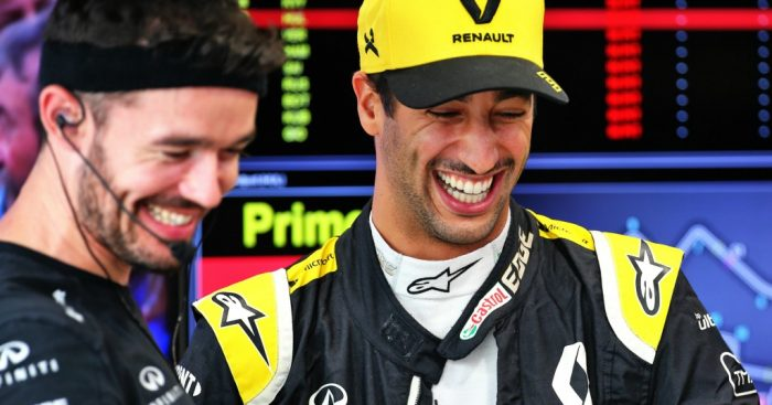 "Daniel Ricciardo has praised Renault for making a ""big step"" with their power unit, joking that he designed it."