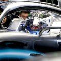 Valtteri Bottas in his Mercedes