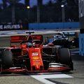 Sebastian Vettel under lights