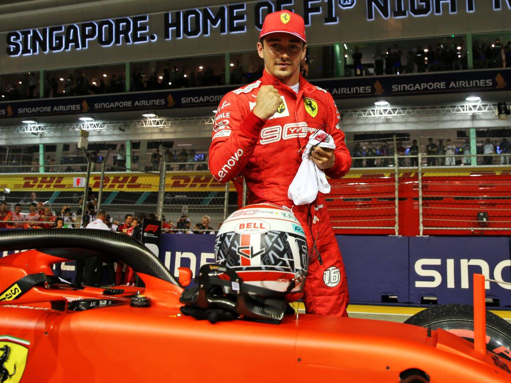 Charles Leclerc credits Ferrari's new parts for his Singapore pole.