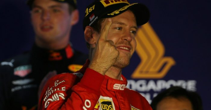 Sebastian Vettel wins Singapore Grand Prix