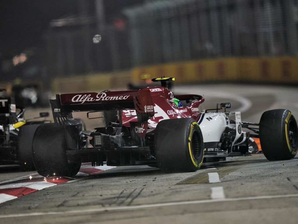 Ten-second time penalty for Antonio Giovinazzi for driving too close to a crane in Singapore GP.