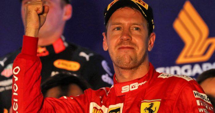 Sebastian Vettel fist pump